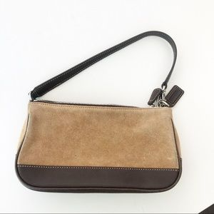 Coach Suede and leather Small Bag Zip Top